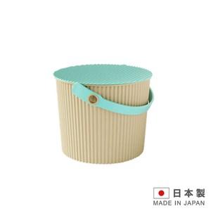 日本製造 波浪4公升水桶 儲物桶 兒童玩具桶-焦糖色 SAN-2364