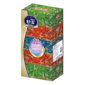 舒潔 新柔感盒裝面紙160抽(5盒x10串/箱)