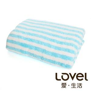 開纖紗牛奶條紋系列 浴巾-天空牛奶