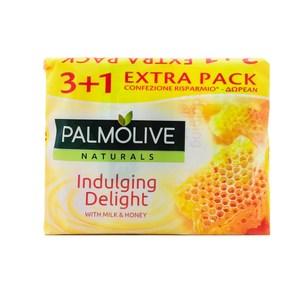 荷蘭Palmolive棕欖潤膚香皂-牛奶蜂蜜(90g*4/組)*9