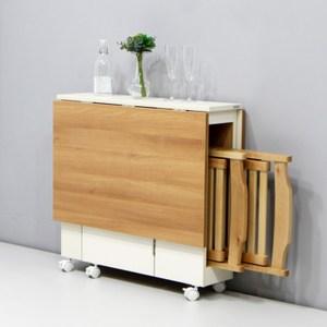 DIY簡易伸縮可移動折疊餐桌1.2米wt043-7+兩張折疊椅