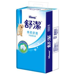 舒潔 柔棉舒適平版衛生紙268張(6包x8串/箱)