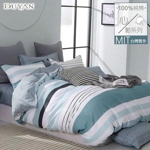 《DUYAN 竹漾》100%精梳純棉雙人加大床包三件組-沐森見晴