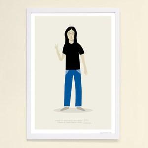 【摩達客】西班牙知名插畫家Judy Kaufmann藝術創作海報版畫掛畫裝飾畫-約翰藍儂