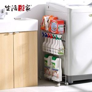 【生活采家】台灣製#304不鏽鋼浴室12cm小細縫架(#27116)