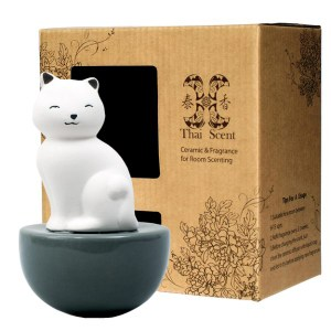 ThaiScent泰香 Aiko療癒貓擴香精禮盒牡丹花園