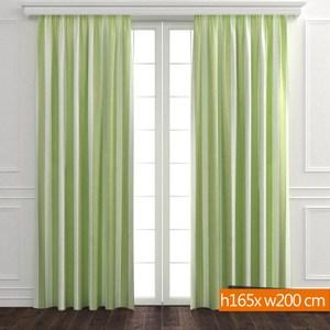 日式遮光窗簾 寬200x高165cm 綠色