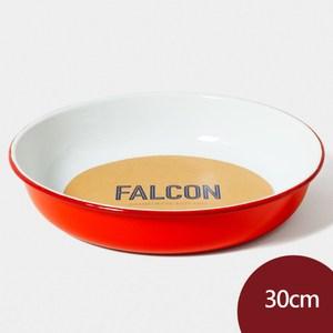 Falcon 獵鷹琺瑯 琺瑯圓形深盤 30cm 紅白