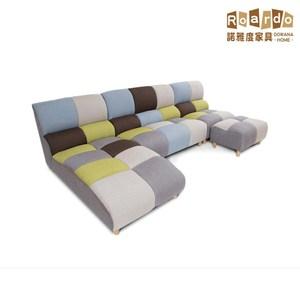 【諾雅度】Connie康妮田園拼布沙發組 含腳椅
