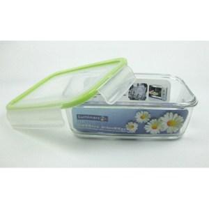 法國【樂美雅】PURE BOX玻璃長型印花保鮮盒1220mlX2