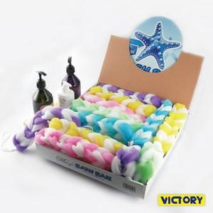 【VICTORY】絢麗七彩麻花捲沐浴條(24入) #1427002