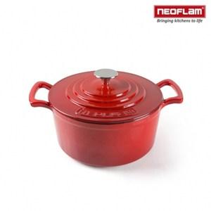 【韓國NEOFLAM】24cm厚釜琺瑯鑄鐵湯鍋(紅) NF-CI-C24-R