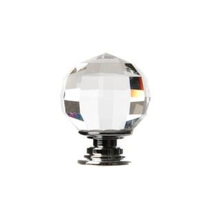 奢華四角切面水晶鋅質鍍亮鉻取手