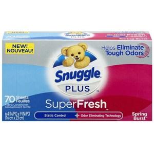 New!【美國 Snuggle】烘乾機香衣片-春天花香(70片)*3