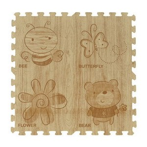 木紋卡通地墊4入 60X60X1.2CM