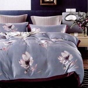 60支天絲床包兩用被四件組/加大-艾莉絲