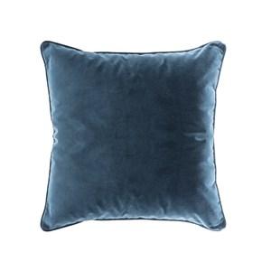 HOLA 素色短絨滾邊抱枕50x50cm 黛藍咖