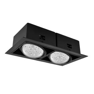 【光的魔法師Magic Light】AR70黑色有邊盒燈雙燈-方形崁燈白光6000K