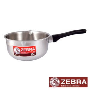 【Zebra 斑馬】#304不鏽鋼雪平鍋 16公分