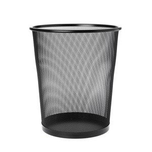 HZ網狀中圓垃圾桶黑色