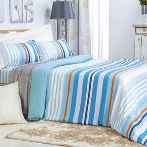 吸溼排汗床包兩用被組 (美式枕套x2、兩用被套x1、床包x1) 雙人尺寸 賽維利亞風格款