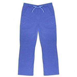 純棉居家素色女長褲(藍) L
