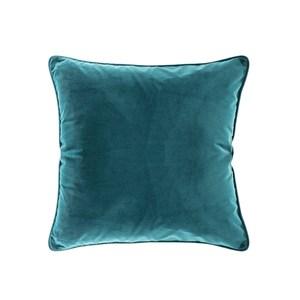 HOLA 素色短絨滾邊抱枕50x50cm 森綠咖