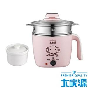 大家源304不鏽鋼美食鍋1.5L -粉紅色