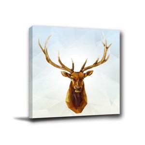 24mama掛畫-單聯式 鹿 掛飾 現代風無框畫 40x40cm