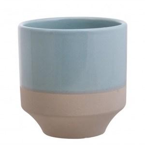 HOLA home春夏暖色陶瓷花器 淡藍綠色