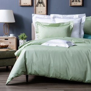 HOLA 托斯卡素色純棉床包 雙人 彩綠