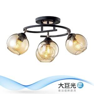 【大巨光】工業風-E27 3+1燈半吸頂燈-中(ME-2753)