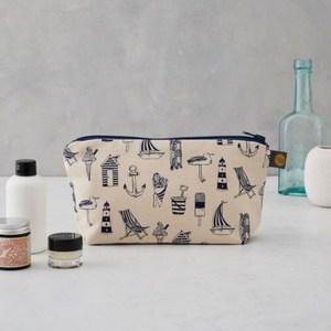 【英國蛋】純棉化妝包 航海渡假