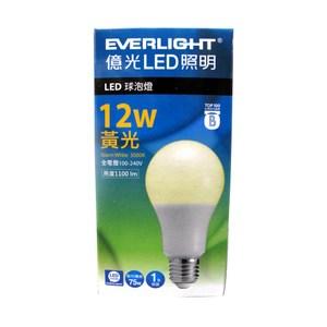 億光 LED半周光燈泡 12W 黃光