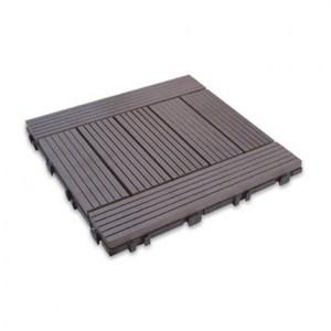 太陽神塑木拼接防潮地板30X30-H灰色