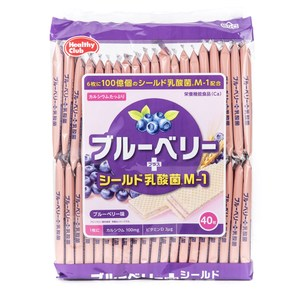 日本 哈馬達 威化鈣餅 藍莓風味 40枚 Hamada