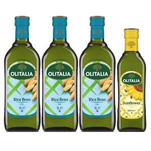 義大利奧利塔玄米油發發組(玄米油1L*3+葵花油500ml*1)