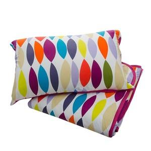 HOLA home彩色普普針織涼被枕套組 雙人