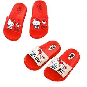 (e鞋院)Hello Kitty 兒童拖鞋 1雙米18CM