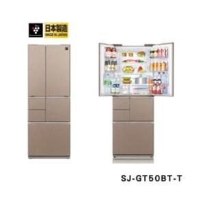 SHARP夏普501L極鮮大冷凍庫變頻六門冰箱 SJ-GT50BT星鑽棕