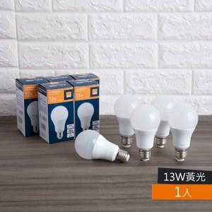 特力屋 13W 廣角LED球泡燈 燈泡色全電壓 E27燈頭