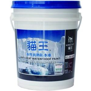 貓王k1-206水性自潔亮光型抗熱防水塗料-百合白 5加侖5加侖