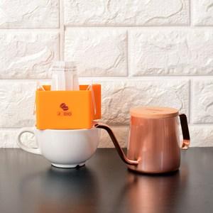 A-IDIO 掛耳手沖咖啡禮盒三件組掛耳架-咖啡色