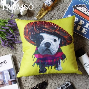 TROMSO品味英倫棉麻抱枕/墨西哥法鬥