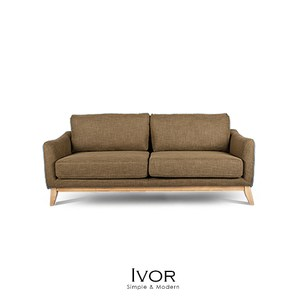 【obis】Ivor三人布沙發-咖啡色