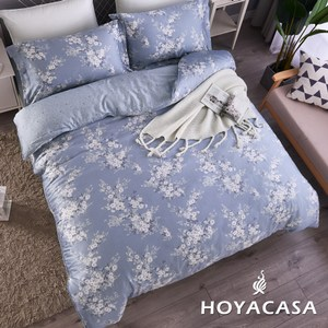 【HOYACASA】梅依加大四件式抗菌天絲兩用被床包組