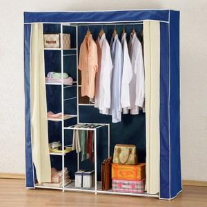 《C&B》新垣日式防塵衣櫥架-寬150CM-藍色