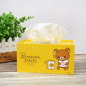 【Rilakkuma】拉拉熊 懶懶熊超萌抽拉式 面紙盒 衛生紙盒-黃
