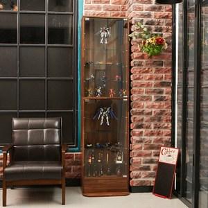 180CM模型收納玻璃展示櫃(集成木紋)