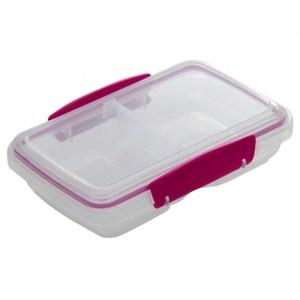 Sistema外出雙格密封保鮮盒350ml(混色)